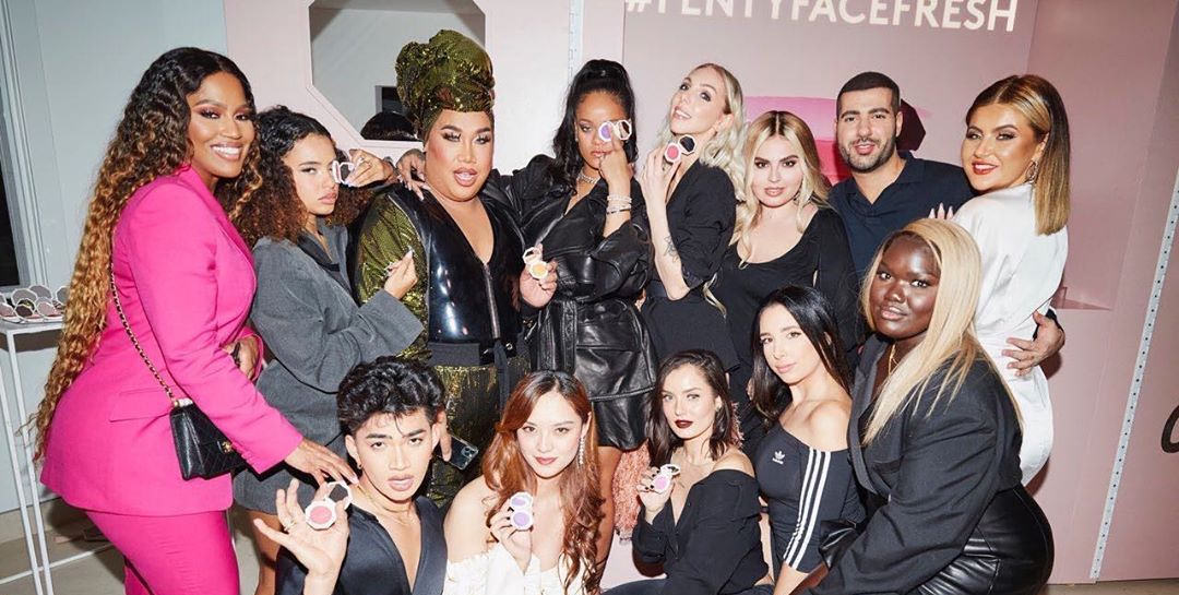 Rihanna at Fenty Beauty Cheeks Out launch party