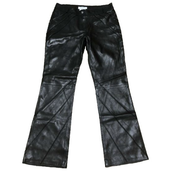 Christian Dior vintage Fall 2002 black leather pants as seen on Rihanna