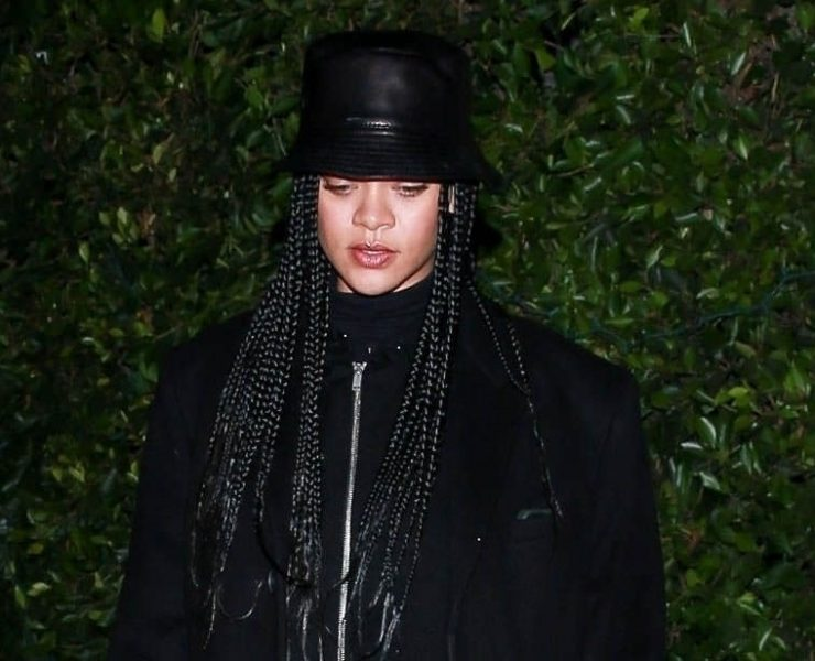 Rihanna in Loewe leather hat