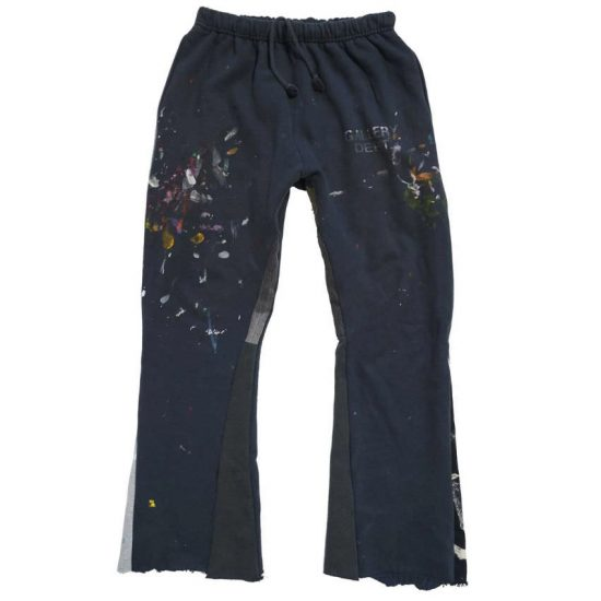 Gallery Department paint covered flare sweatpants as seen on Rihanna